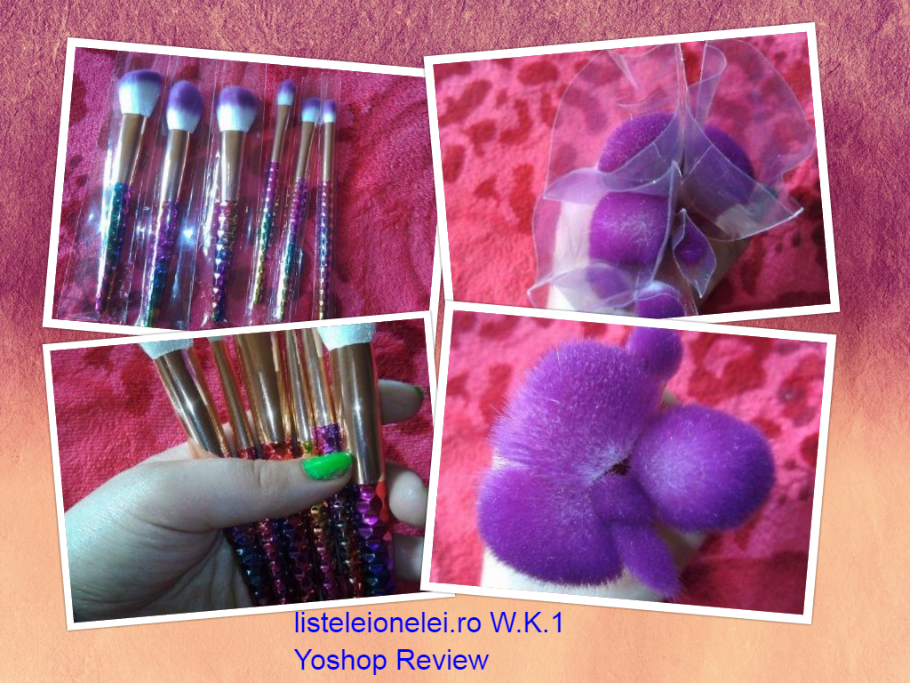 W.R. 1: 6 Pcs Nylon Ombre Makeup Brushes Set