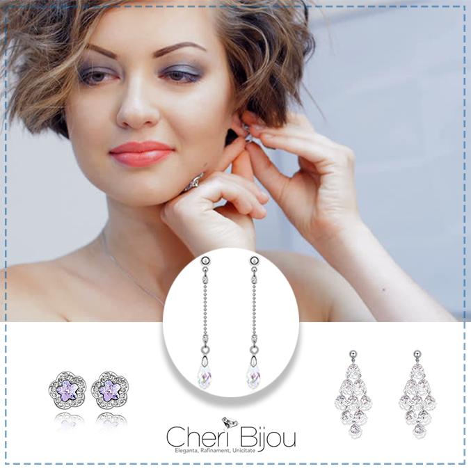Cercei cu cristale Swarovski – adauga un plus de stralucire frumusetii tale naturale!