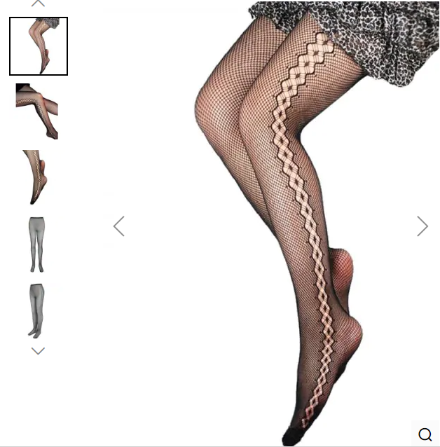 See Through Fishnet Tights