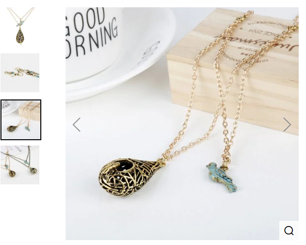 XL-324 Creative Retro Hollow Bird Nest Birdcage Bird Pendant Necklace Multi-layer Sweater Chain