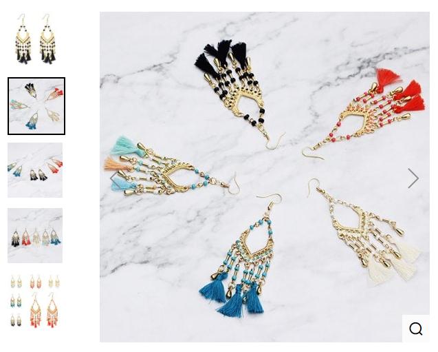 Personality Fashion Tassel Earrings