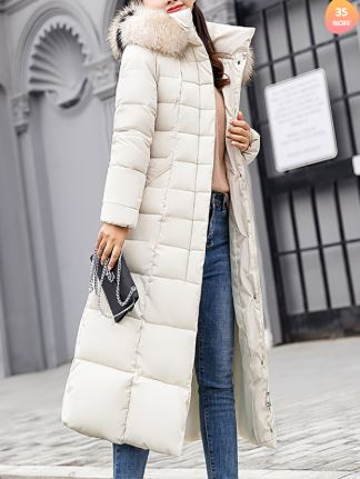 Casual Hat Collar Pure Colour Long Sleeve Outerwear