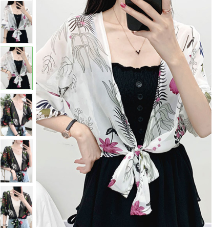 Lotus Leaf Sunscreen Cardigan